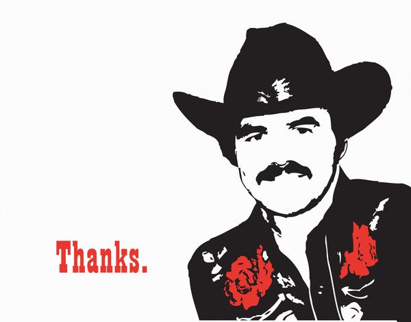 Burt Reynolds Thank You Card