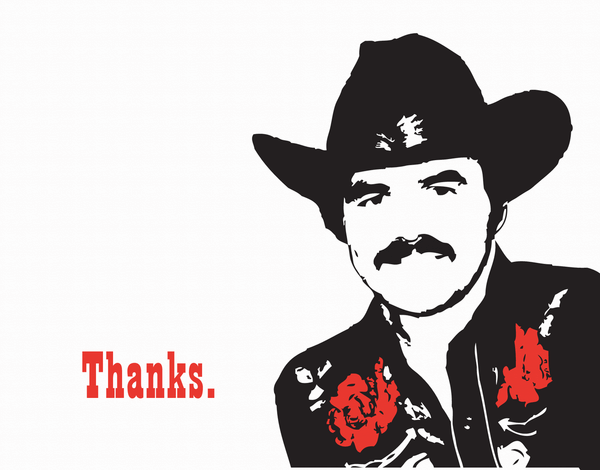 Burt Reynolds Thank You Card