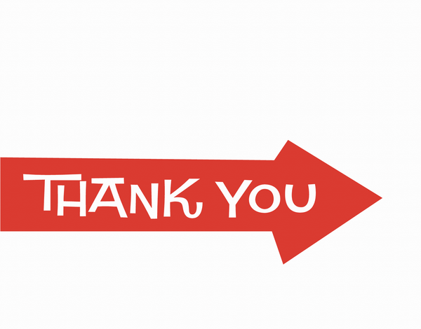 Red Arrow Thank You Stationery