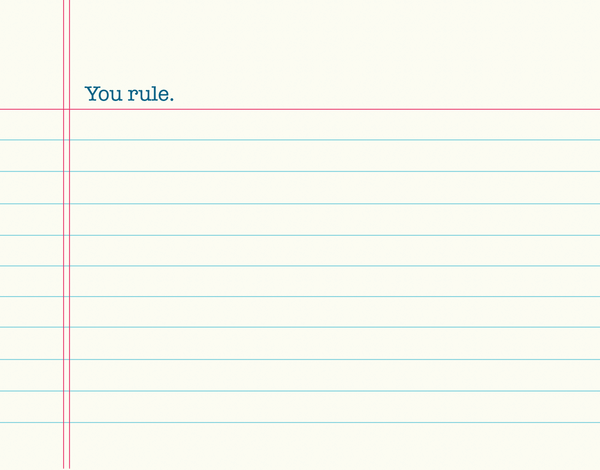 You Rule Lined Paper Stationery