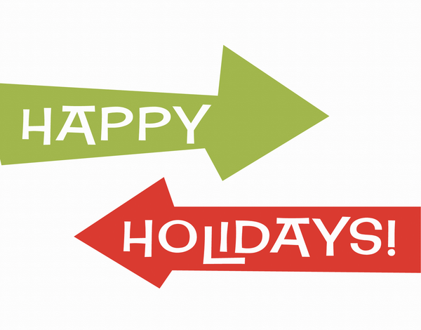 Happy Holidays Card with Arrows