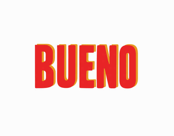 Bold Red Bueno Everyday Card