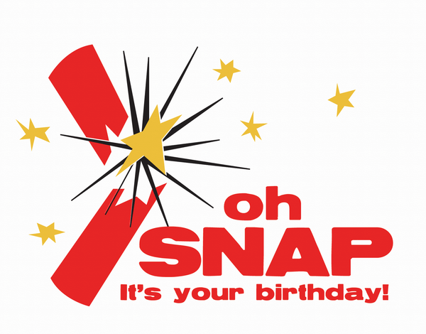 Firecracker Snap Birthday Card
