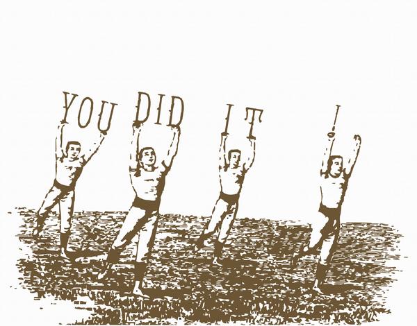Jumping Men Congratulations Card