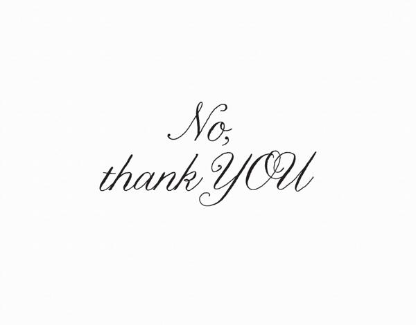 Thank You Card in Elegant Script