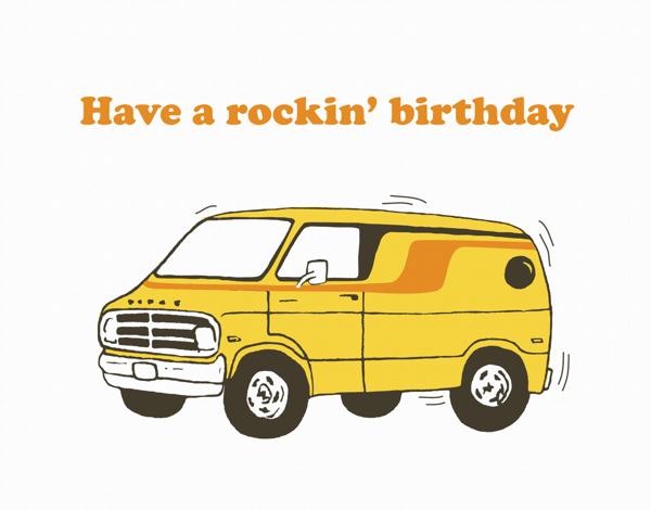 Retro Van Birthday Card