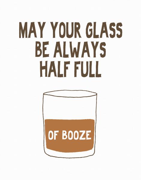 Funny Optimistic Booze Card