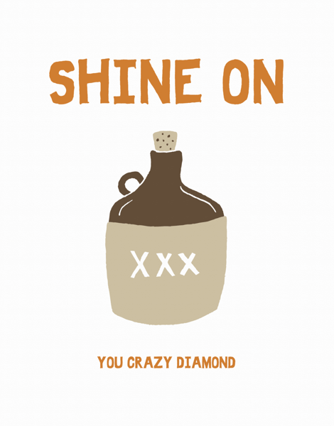 Shine On Moonshine Greeting Card