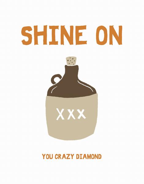 Shine On Moonshine Greeting Card