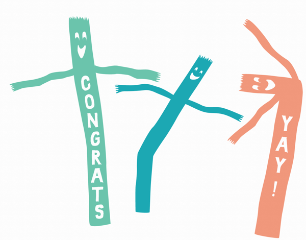 Air Dancers Congratulations Card