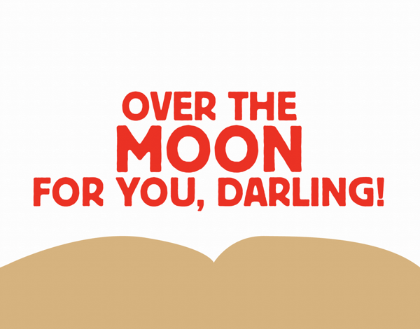 Over the Moon Valentine Card