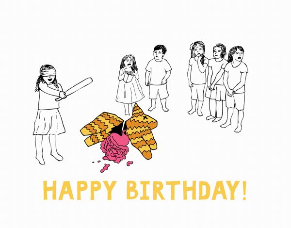 Funny Pinata Birthday Card