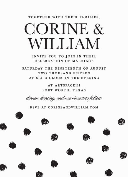 Polka Dot Wedding Invitation