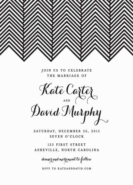 Herringbone Wedding Invite