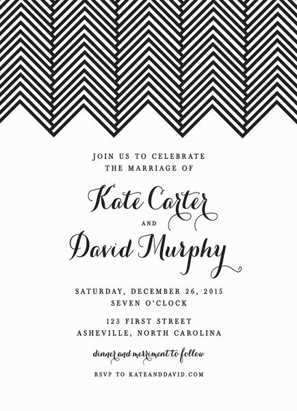 Herringbone Wedding Invite