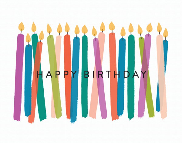 Colorful Birthday Candles Greeting Card