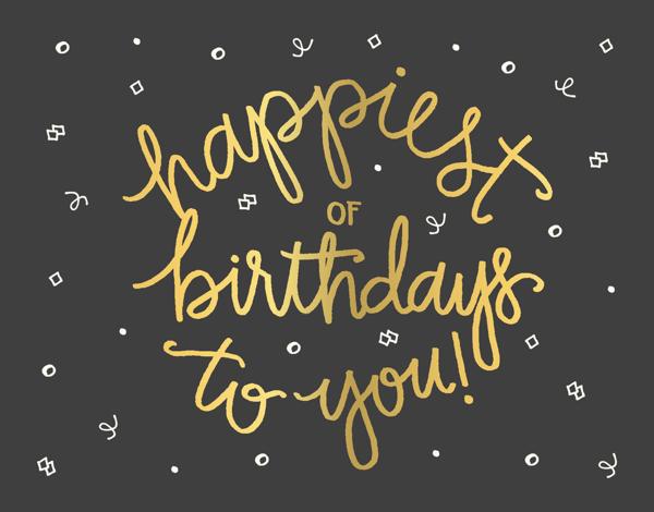 Birthday Confetti Greeting Card