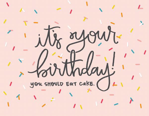 Colorful Sprinkles Birthday Card