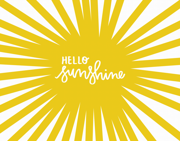 Cheerful Hello Sunshine Friend Card