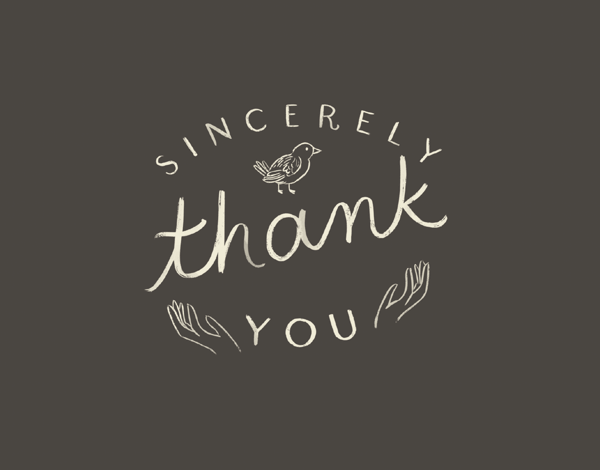Sincerely Thank You