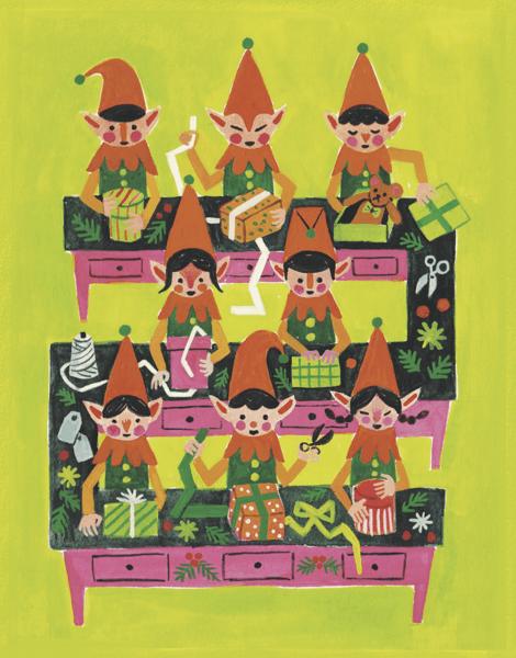 santas-elves-greeting-card