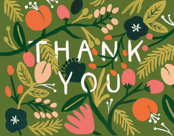 Whimsical Forest Thank You Card