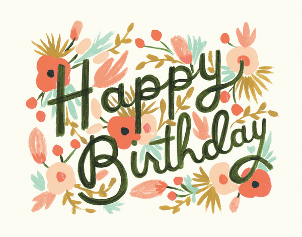Floral Burst Birthday Card