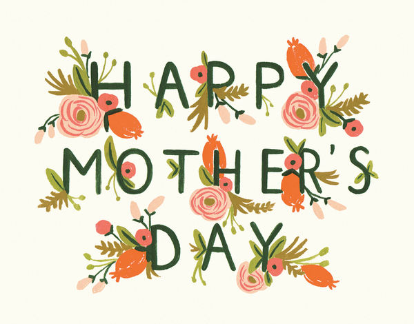 Pink Garden Happy Mother's Day Card