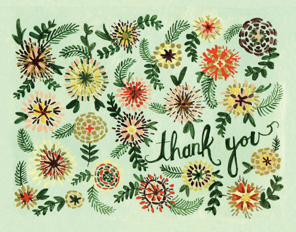 Hand Painted Ella Thank You Card