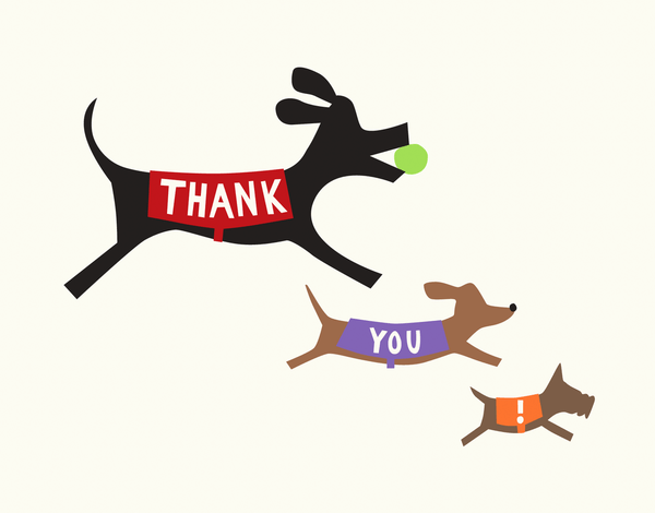 Doggie Thank You Card