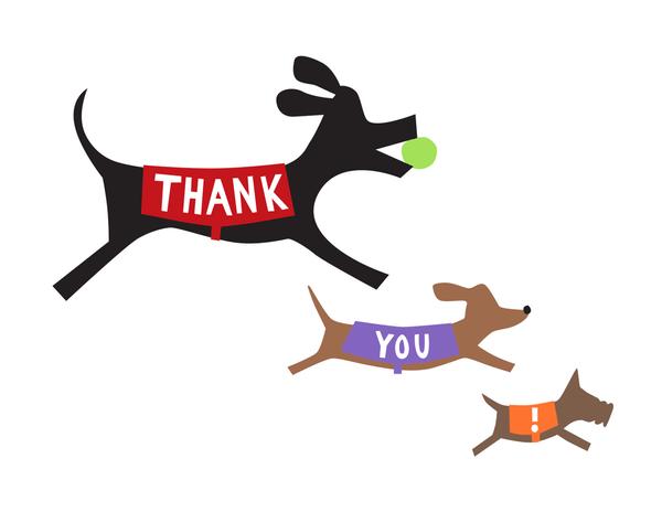 Doggie Thank You Card