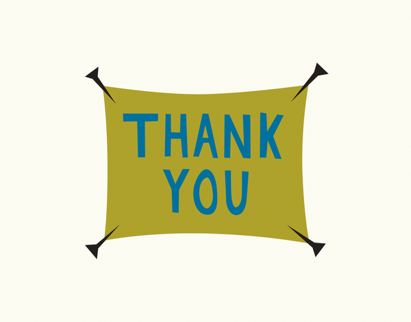 Simple Banner Thank You Note