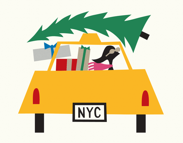 Christmas Tree Taxi Holiday Card