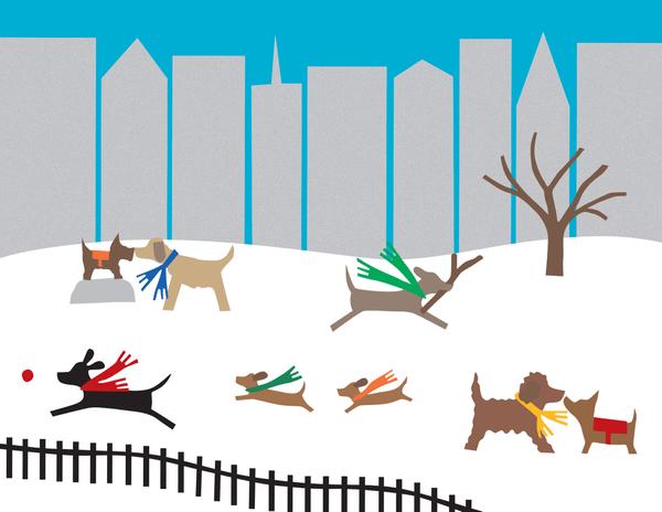 Dog Park Winter Stationery