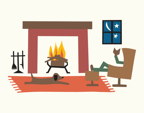 Winter by the Fire Stationery