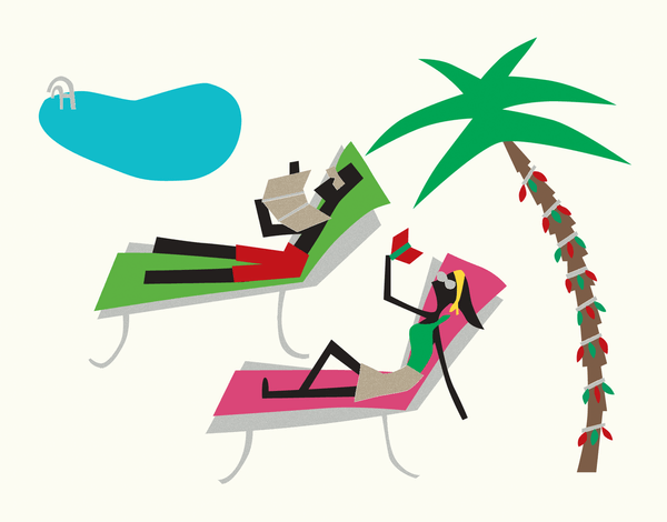 Poolside Holiday Card