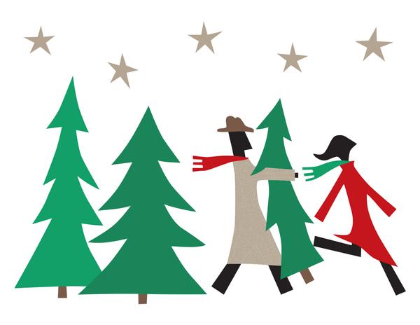 Christmas Tree Shopping Stationery