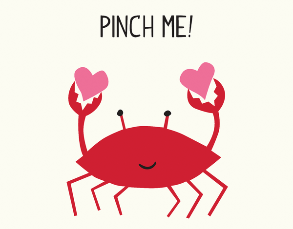 Pinch Me Crab Love Card