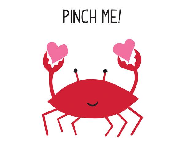 Pinch Me Crab Love Card