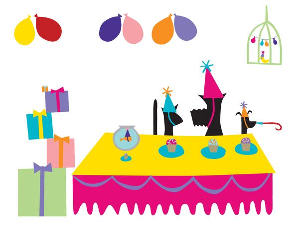 Animal Party Birthday Card