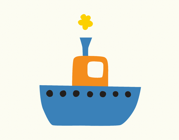 Blue Tugboat Stationery