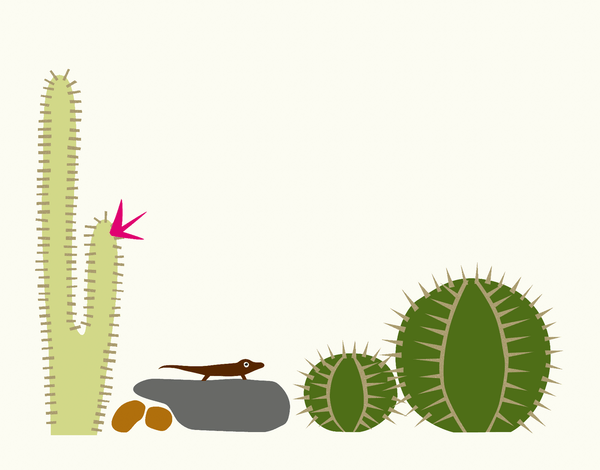 Cactus Lizard Stationery