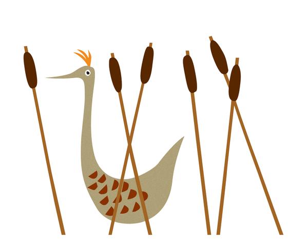 Bird in Plants Stationery
