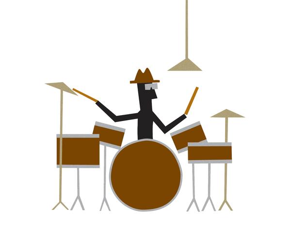 Drummer Greeting Card