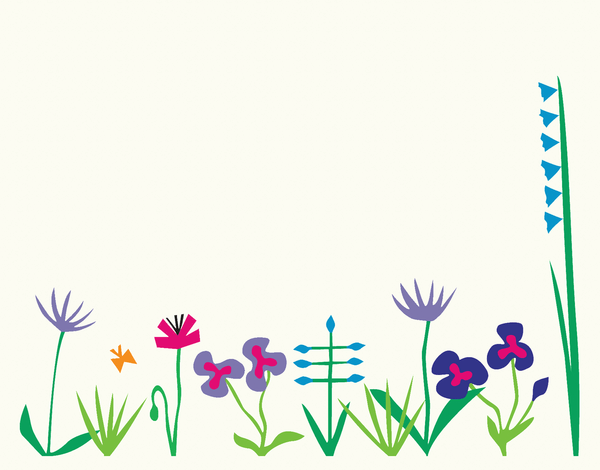 Graphic Flowerbed Stationery