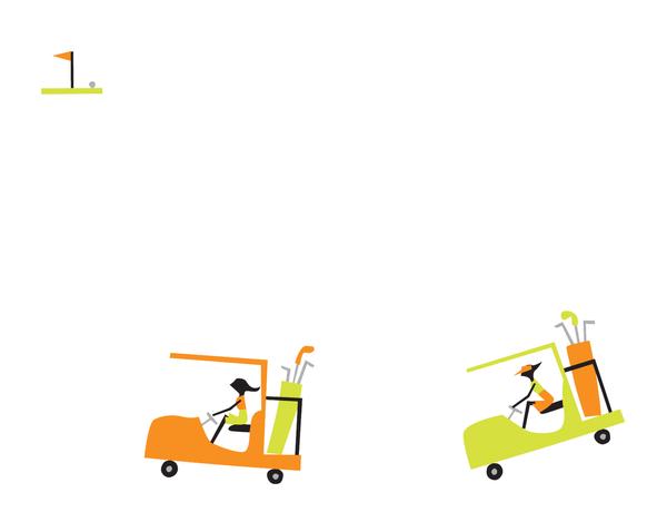 Gold Cart Girls Stationery