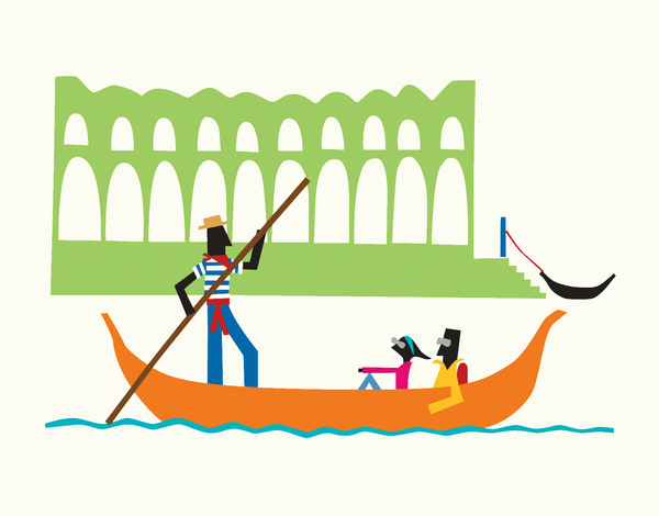 Tourist Gondola Greeting Card