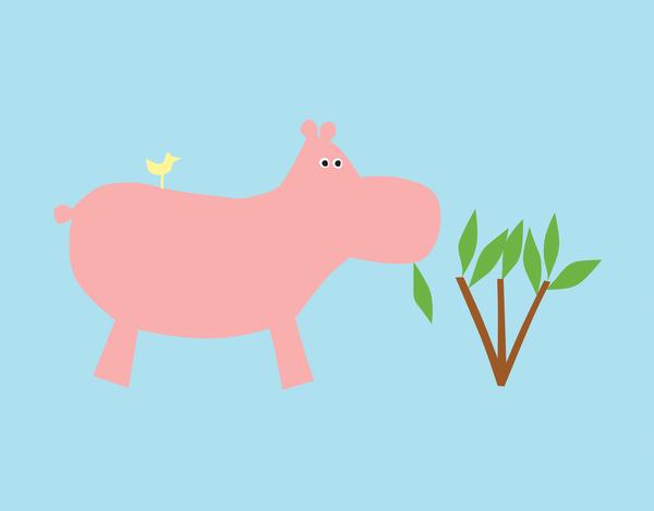 Hippo Children's Stationery