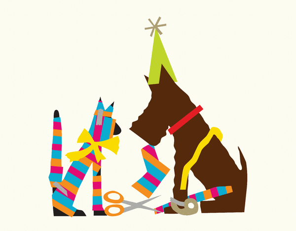 Colorful Graphic Pet Card