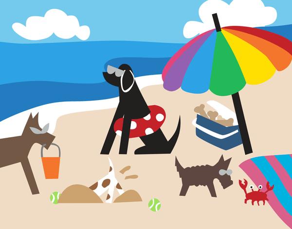 Doggie Beach Day